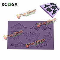 KCASA™ бабочка орнамент тиснением помадная формы инструмента силиконовые формы Cake украшения, фото 1
