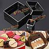 3шт квадратные формочки бисквитный Cake прессформы нержавеющей стали