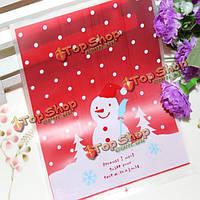 100 шт/много прекрасный Снеговик печенья мешок ziplock мешки, фото 1
