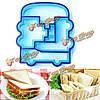 DIY Cake плесень выпечки хлеба тост сэндвич-машины для печенья