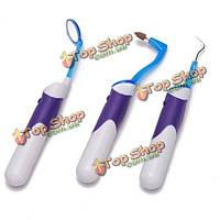 LED зубной набор инструментов устный зубной съемник мемориальной доски резинки окраски зеркала