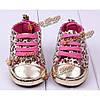 Девочка леопардовым узором принцесса малыша обувь