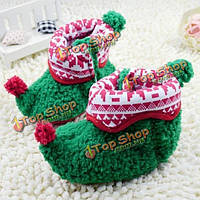 Рождество теплее ребенка малыша новорожденный хлопка ткань обувь