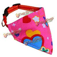 Регулируемая красная роза сердце Pet воротник треугольный шарф бандана, фото 1