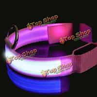 Розовый LED Pet ошейник ночь безопасности собаки ошейник мигающий, фото 1