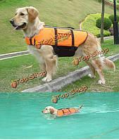 Оранжевый свет вес собаку жизни куртка плавательный жилет, фото 1