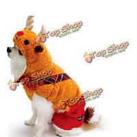 Зима кошка собака пальто рождественские олени Милу стиль комбинезон животное собака одежду, фото 1