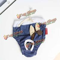 Хлопок джинсовые штанов санитарно любимчика любимчика собаки физиологических штаны, фото 1