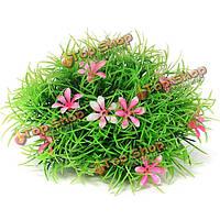 Аквариум искусственные пластиковые растения рокария воды траву украшения, фото 1