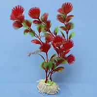 Красные искусственные пластиковые растения орнамент для украшения аквариум, фото 1