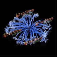 Аквариум аквариум искусственные программного обеспечения коралловый растительный орнамент голубой