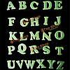 Светятся в темноте детям обучение 26 букв английского алфавита наклейки