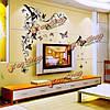 DIY наклейки домашнего декора цветы бабочки съемный бумага стены наклейки искусства