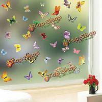 Бабочки декоративные настенные наклейки искусства, фото 1