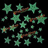 26шт улыбается звезда светящая наклейка ПВХ
