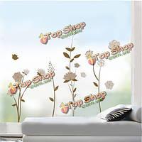 """Съемные коричневые цветы и растения \ уол наклейки комната декор стикер"""", фото 1"""