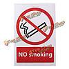 Нет предупреждения курения знак логотип ПВХ стикер 100x150mm