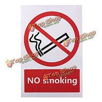 Нет предупреждения курения знак логотип ПВХ стикер 100x150mm, фото 1