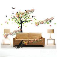 Весна цветущее дерево птиц ПВХ стикер стены обои 2180