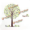 Счастливые лесные ПВХ стикер стены обои 2189