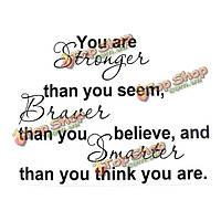 Вы сильнее, чем вы считаете, вдохновение цитатой обои 8061, фото 1