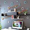 8 цветов 5шт кругах творческой съемных стерео 3D diy стены стикеры