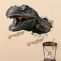 Динозавр 3d стены наклейки наклейка вол животное съемные стикеры стены отверстие домашнего декора динозавр подарок, фото 1