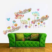 DIY бабочка цветок съемный стикер стены этикета домашний декор искусства, фото 1