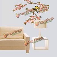 Цветет дерево иволги винил съемный стикер стены этикета домашний декор