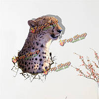 3D Leopard стены наклейки наклейки вол животное съемная стена подарок наклейки отверстий украшение дома, фото 1