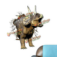 Носорог вол стикер 3d стены наклейки животное съемные стикеры стены отверстие домашний динозавр подарок декор, фото 1