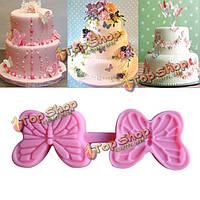 Форма бабочки силиконовые формы торт пресс-формы шоколадные конфеты Желе кремния прессформы украшения помадка торт