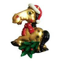 Магнит лошадь оригинальный подарок к новому году купить недорого в Харькове оптом и в розницу