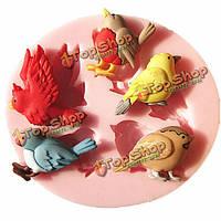 Птица силиконовые fondant торт прессформы шоколада прессформы кухня для выпечки инструменты, фото 1