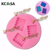 KCASA™ 3D книга силикон помадная плесень шоколад полимерная глина плесень