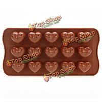 Сердце шоколадный торт печенье желе льда выпечки силиконовые формы