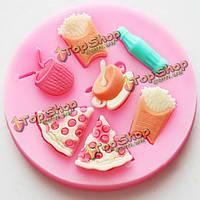 F0494 силиконовые чипы кофейный Cake прессформы мыла шоколад выпекать плесень