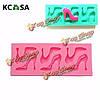 KCASA™ туфли на высоком каблуке формы силиконовые формы шоколада формы Fondant Cake декора инструменты