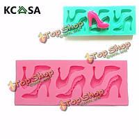 KCASA™ туфли на высоком каблуке формы силиконовые формы шоколада формы Fondant Cake декора инструменты, фото 1