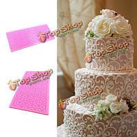 Кружевной пирог силикона формирует инструмент украшения формы печати помадки, фото 1