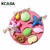 KCASA™ 3D силикон ракушка морская звезда морская улитка помадной Cake формы шоколада украшения торта прессформы