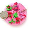 F0537 силикона Рождественский Cake плесень фондант шоколад плесень мыло