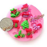 F0537 силикона Рождественский Cake плесень фондант шоколад плесень мыло, фото 1