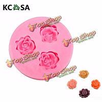 KCASA™ розы силиконовые формы Cake помадной массы украшения прессформы gumpaste sugarpaste прессформы ФДА LFGB, фото 1
