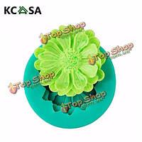KCASA™ 3D мини-цветок силикона помадной Cake плесень украшения торта плесень, фото 1