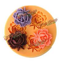 F0033 силиконовой смолы цветочный Cake прессформы мыла шоколадные конфеты желе прессформы