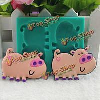 3-я мультипликационная свинья формирует форму украшения пирога помадки силикона формы шоколада пирога, фото 1