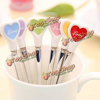 Керамическая ручка сердце кофе ложка многоцветной перемешивания ложка, фото 1