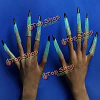 Призрак ногтей завернуть Хэллоуин серебристых пальцев раскладушка партии реквизита, фото 1