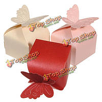 Бабочка шаблон свадьба подарок коробка конфет, фото 1